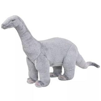 vidaXL Speelgoeddinosaurus staand XXL pluche grijs