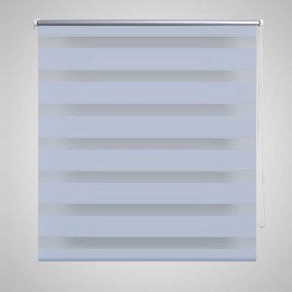 vidaXL Duo rolgordijn 120 x 230 cm wit