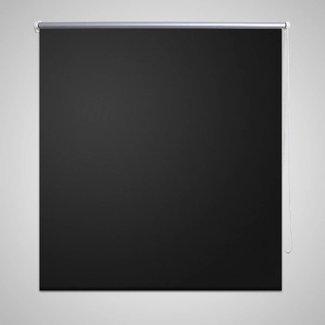 vidaXL Rolgordijn verduisterend 140 x 230 cm zwart