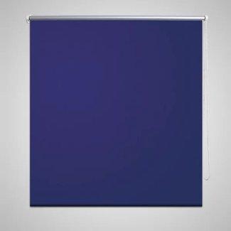 vidaXL Rolgordijn verduisterend 140 x 230 cm marineblauw