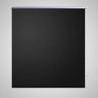 vidaXL Rolgordijn verduisterend 120 x 230 cm zwart