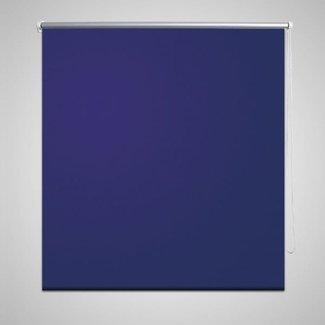 vidaXL Rolgordijn verduisterend 140 x 175 cm marineblauw
