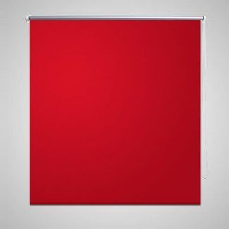 vidaXL Rolgordijn verduisterend 80 x 175 cm rood