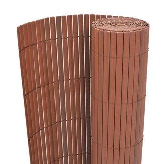 vidaXL Tuinafscheiding dubbelzijdig 195x500 cm PVC bruin