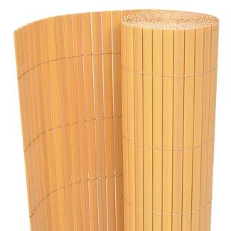 vidaXL Tuinafscheiding dubbelzijdig 195x500 cm PVC geel