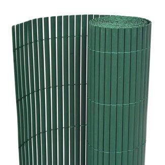 vidaXL Tuinafscheiding dubbelzijdig 195x500 cm PVC groen