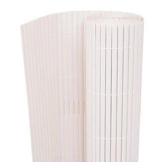vidaXL Tuinafscheiding dubbelzijdig 195x500 cm wit
