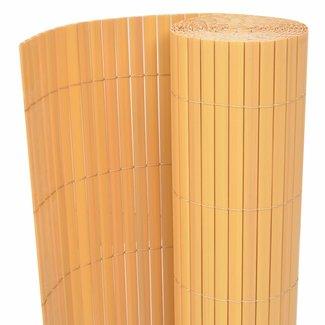 vidaXL Tuinafscheiding dubbelzijdig 195x300 cm PVC geel