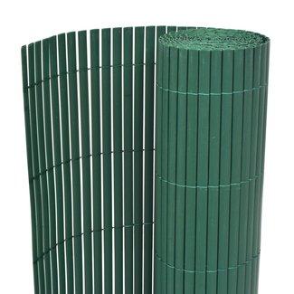 vidaXL Tuinafscheiding dubbelzijdig 195x300 cm PVC groen