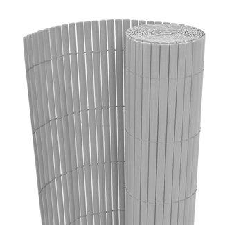 vidaXL Tuinafscheiding dubbelzijdig 150x500 cm PVC grijs