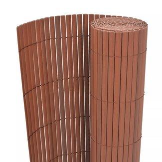 vidaXL Tuinafscheiding dubbelzijdig 150x500 cm PVC bruin