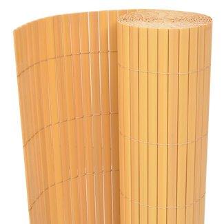 vidaXL Tuinafscheiding dubbelzijdig 150x500 cm PVC geel