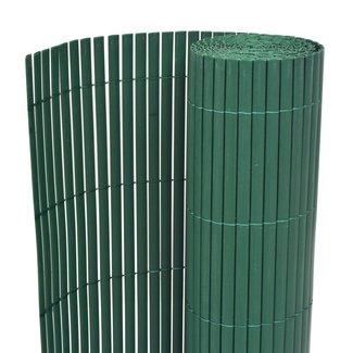 vidaXL Tuinafscheiding dubbelzijdig 150x500 cm PVC groen