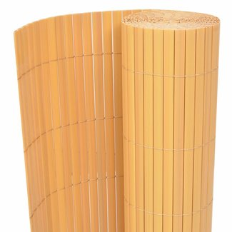 vidaXL Tuinafscheiding dubbelzijdig 150x300 cm PVC geel
