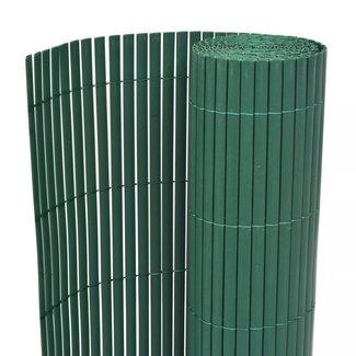 vidaXL Tuinafscheiding dubbelzijdig 150x300 cm PVC groen