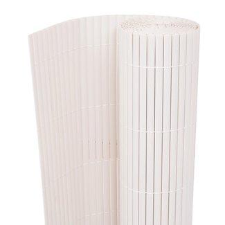 vidaXL Tuinafscheiding dubbelzijdig 150x300 cm wit