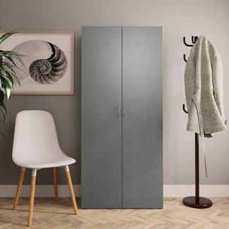 vidaXL Schoenenkast 80x35,5x180 cm spaanplaat grijs