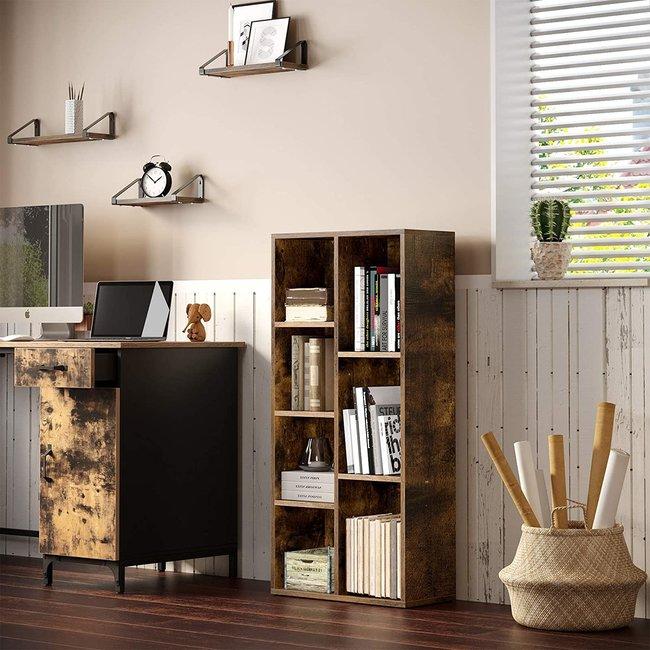 Vintage look staande kast, boekenkast, industrieel design