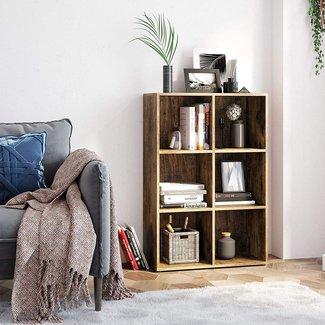 Kubuskast, vintage look boekenkast, staande kast
