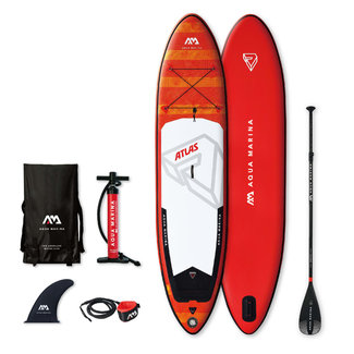 Aqua Marina SUP board Atlas 366x84x15 cm rood