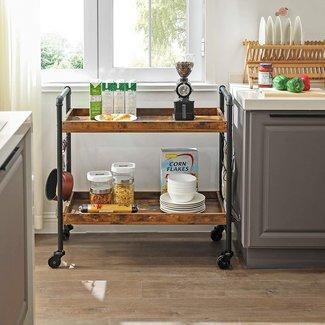 Serveerwagen, keukenwagen, serveertrolley industrieel design