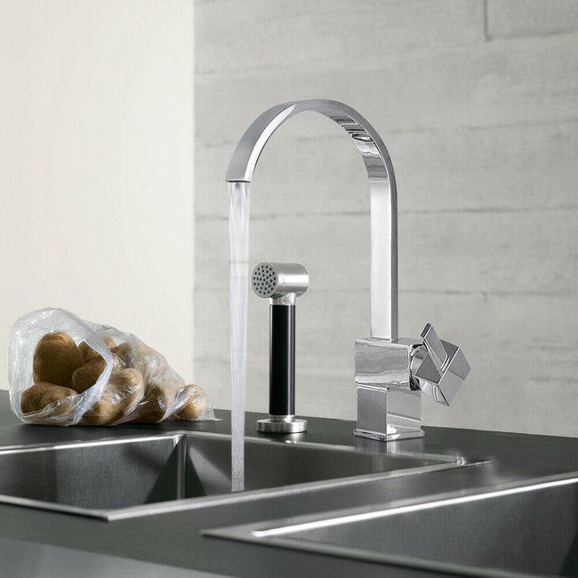 Elegante watervalkraan, keukenmengkraan, 360° draaibaar