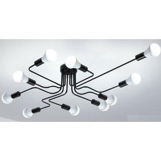 Industriële hanglamp, 10 kops plafondlamp industrieel design