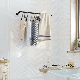 Kledingstang, kledingrek voor aan de muur 100 cm breed