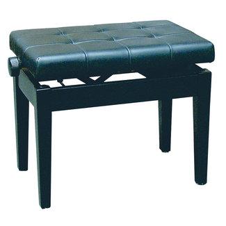Pianobank zwart en zwart kunstleer combinatie