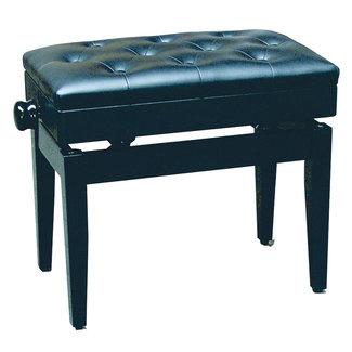 Pianobank zwart met vak voor bladmuziek