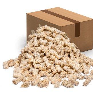 Aanmaakwokkels, houtwol aanmaakkrullen biologisch aanmaakhout 5 kg