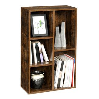 Industriële boekenkast in vintage design met 5 vakken