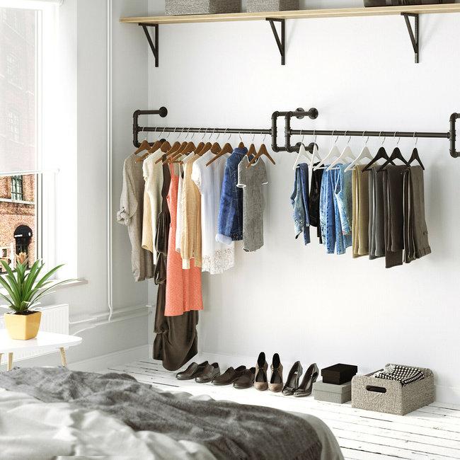 2 x kledingstang in industrieel design