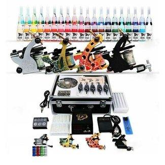 Tattoo kit met 4 machines 40 inkt 50 naalden