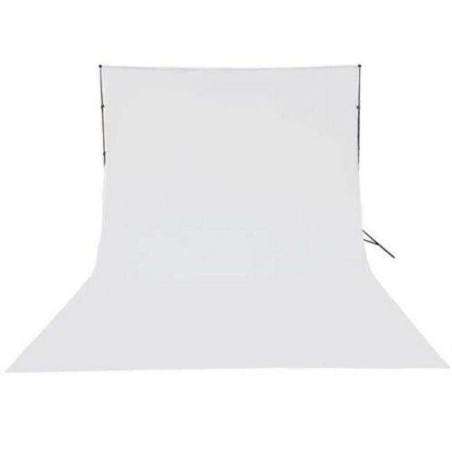 Fotostudio achtergronddoek van katoen 3 x 6 meter wit