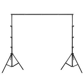 Fotostudio achtergrondsysteem met statieven 2 x 3 meter