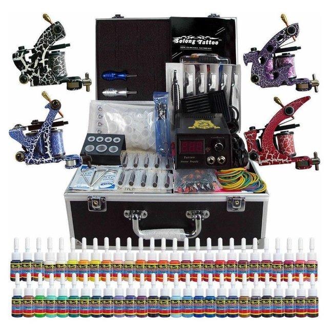 Tattoo set 4 machines, 40 inkt, 50 tattoo naalden