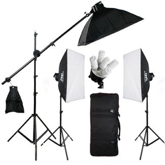 15 lampen Fotostudio Set 50 x 70 softboxen