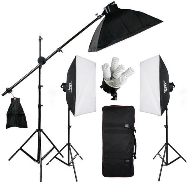 15 lampen Fotostudio Set 50 x 70 softboxen