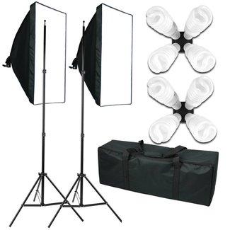 Fotostudio Softboxen met 8 lampen