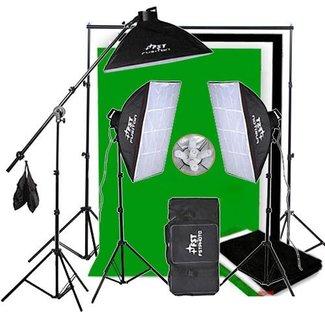 Fotostudio set met softboxen, galgstatief en 2850 Watt lampen