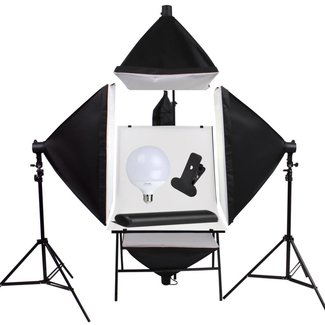 Fotostudio set - 4 Softbox - opnametafel - 1000W Fotografie