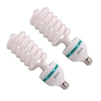2 x Foto Lampen Spiraal Lampen  135W Daglicht spaarlampen