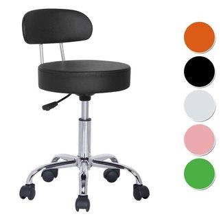 Werkstoel met leuning - Kappersstoel - Pedicure - Tabouret - Nagel stoel