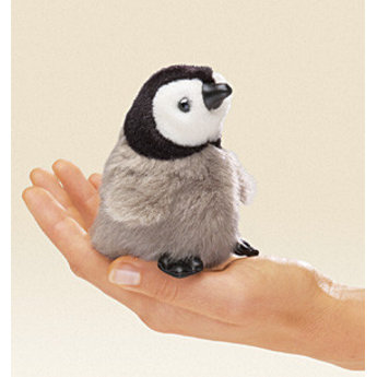 Folkmanis handpoppen en poppenkastpoppen Realistisch vingerpopje baby keizerspinguin