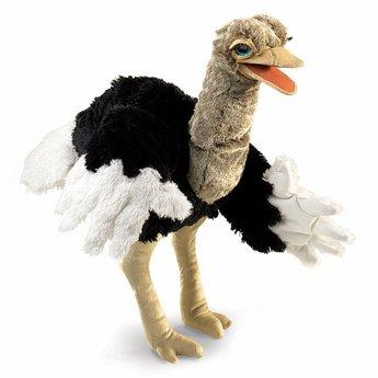 Folkmanis handpoppen en poppenkastpoppen Grote realistische handpop struisvogel