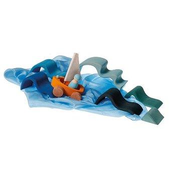 Grimms houten speelgoed Houten bouwblokken water