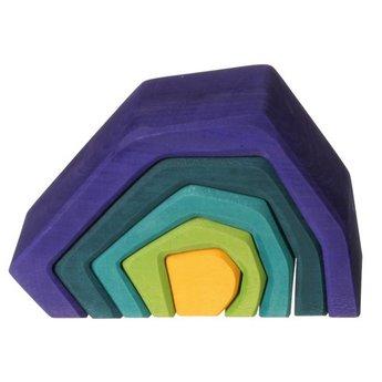 Grimms houten speelgoed Stapelblokken Aarde van Grimms om mee te bouwen