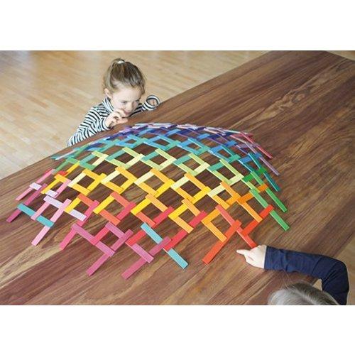 Grimms houten speelgoed Leonardo Sticks - zelfdragende constructie