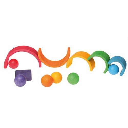 Grimms houten speelgoed Grimms 6 kleurige houten ballen